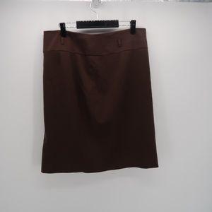 Apt. 9 Side Slit Pull On Mini A Line Career Skirt